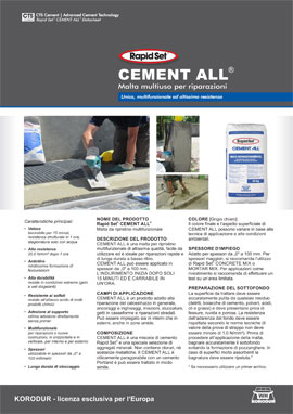 Scheda tecnica CEMENT ALL